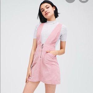 Pink Corduroy pinafore dress
